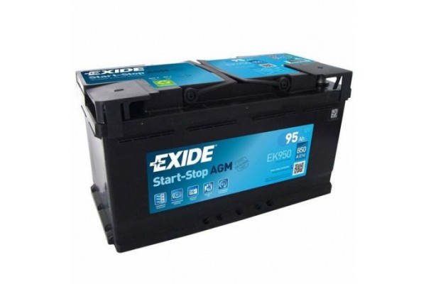 Akumuliatorius EXIDE 95 Ah 850 A EN 12V AGM