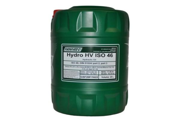 Fanfaro HV VG 46 pramoninė hidraulinė alyva 20L